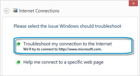 windows vista cannot connect to the internet