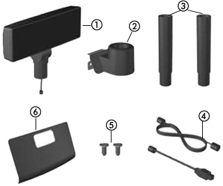HP RP7 USB-A DC-in DVI-D Cable Kit New 702782-001