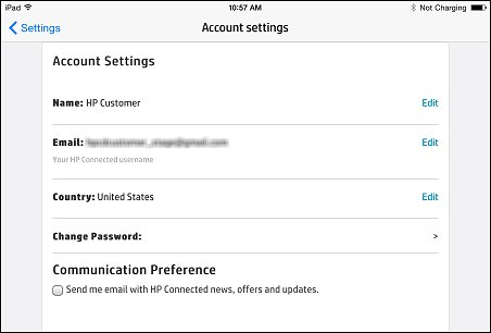 Name and Email settings