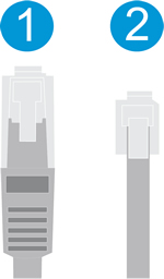 Image: Ethernet and telephone cable comparison