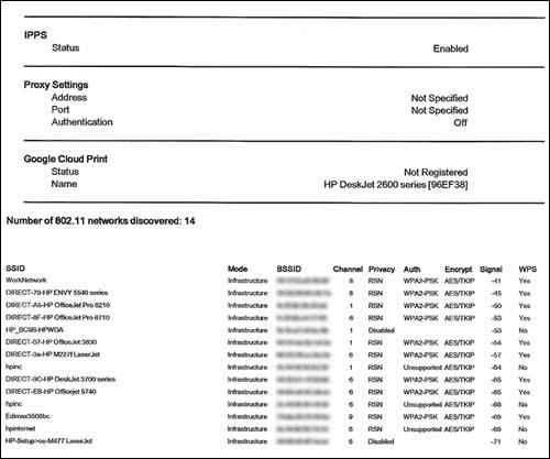 Exemplo de página de configuração de rede 2