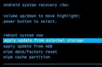 apply update from external storage