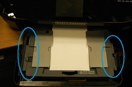 Image: Photo tray properly functioning