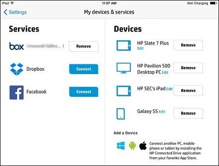 My devices & services