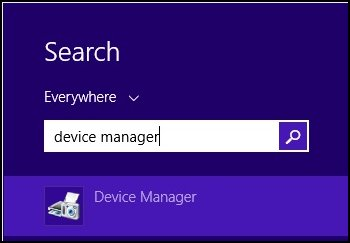 how to open up device manager windows 8