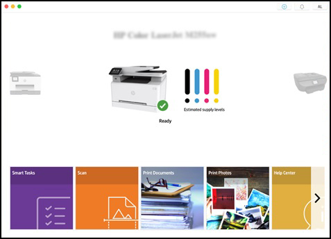 Clicking Print Photos or Print Documents in HP Smart app