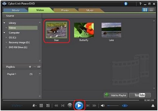 HP PCs - Using CyberLink PowerDVD to play videos, music, and