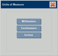 Units of measure dialogs