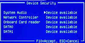 Device Security (Gerätesicherheit)