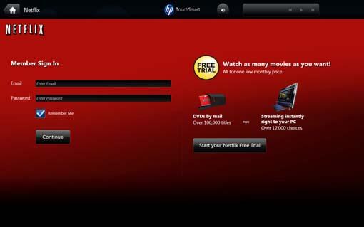 HP TouchSmart Desktop PCs - Using Netflix | HP® Customer Support