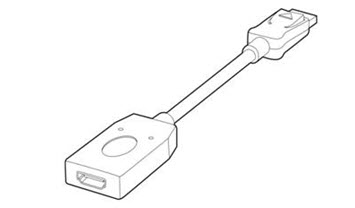Image of the   DisplayPort to HDMI Adapter.