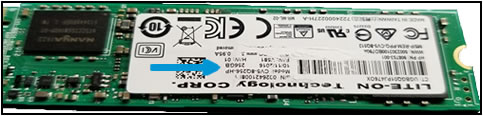 Example of SSD serial number label damage