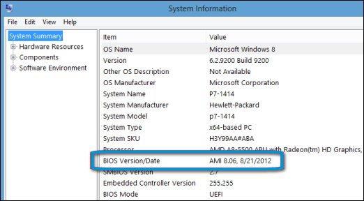 BIOS Version/Date entry