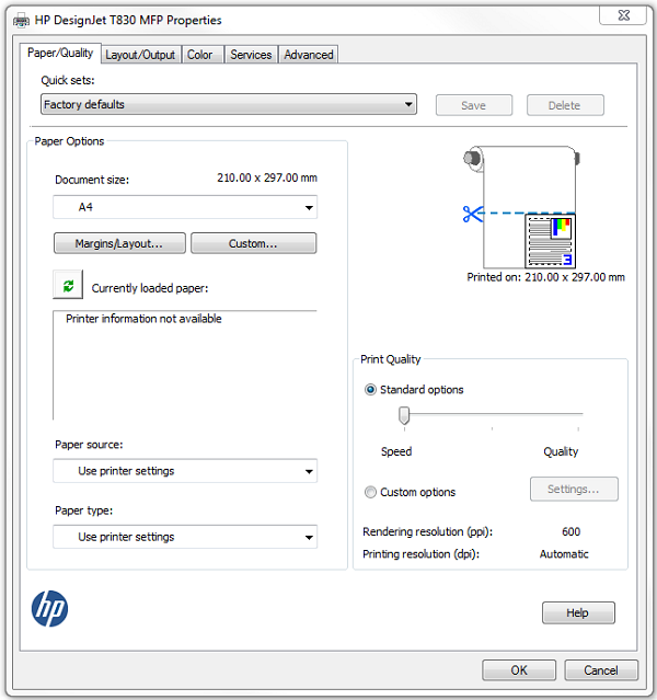 HP DesignJet Printer Series - Driver Guide - How to choose a