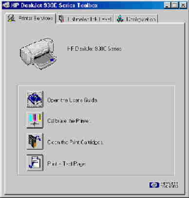hp deskjet 960c printer toolbox
