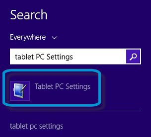 Search results for Tablet PC Settings