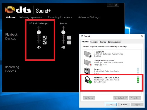 DTS audio enabled