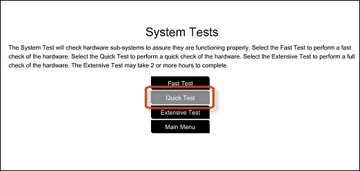 Running the Quick Test