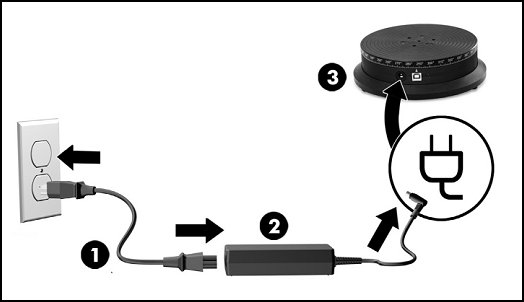 Connecting the turntable to power