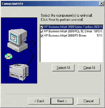 HP Business Inkjet 2600 Series Printers - Driver Uninstall ...