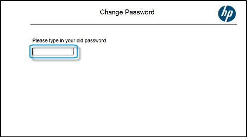 Image: Type your new administrator password