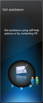 Get assistance button in HP Support Assistant