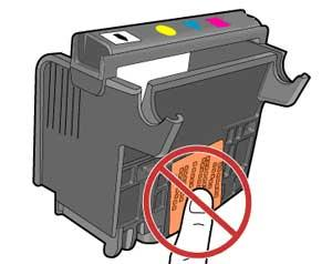 Image: Do not touch the electrical contacts