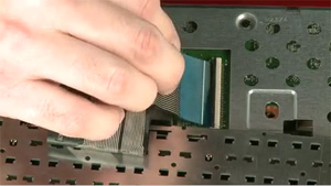 Inserting the ribbon cable into the ZIF connector