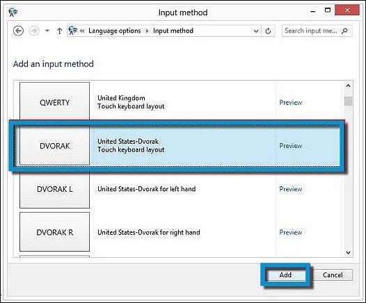 how to change the keyboard compaq windows 10
