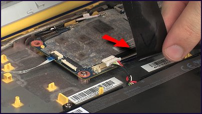Removing the ribbon cable from its connector