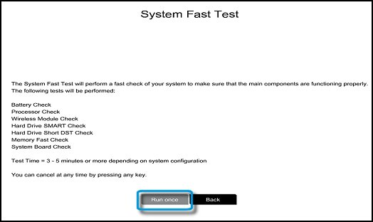 System Fast Test