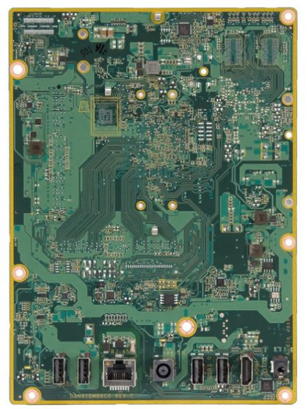 Oahu-U motherboard bottom view