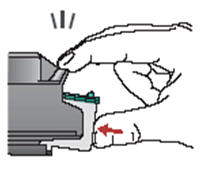 Image: Direction to insert the cartridges.