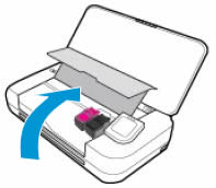 Image: Lift the ink cartridge cover