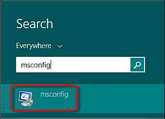 Opening msconfig