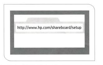 Opening HP ShareBoard setup in your browser