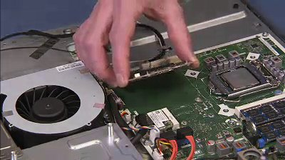 Removing the graphics card