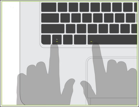 Press fn and spacebar to activate the Leap Motion sensor