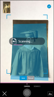 Scanning an item from an Apple iOS device