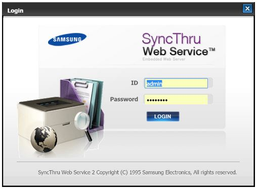 Samsung Laser Printers How To Log In To Syncthru Web