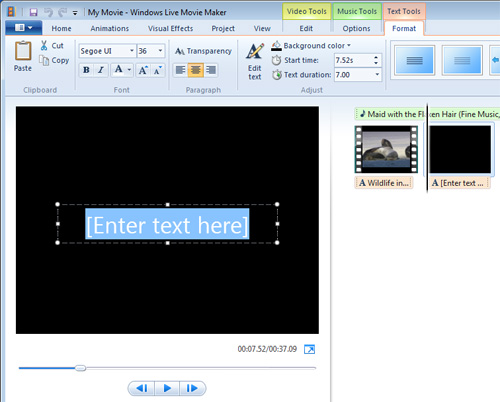Image of Movie Maker Title screen