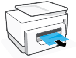 Removing jammed paper