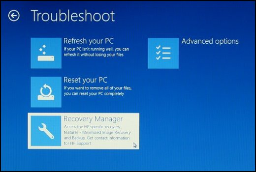 how to factory restore hp laptop windows 8.1