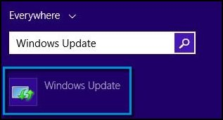 Windows Update search results