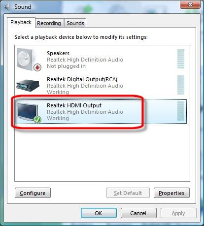 Hdmi audio driver windows 7