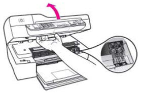 Illustration of opening the cartridge door