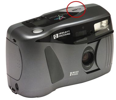 Model number location at the top of the camera.
