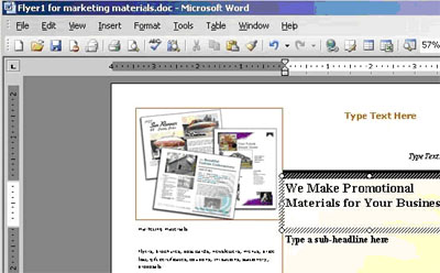 software to make a flyer