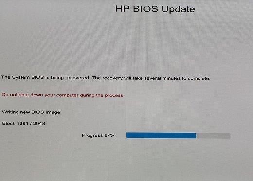 520-1070 BIOS demaged after Windows 10 updates - HP Support