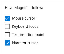 Using Magnifier with Narrator